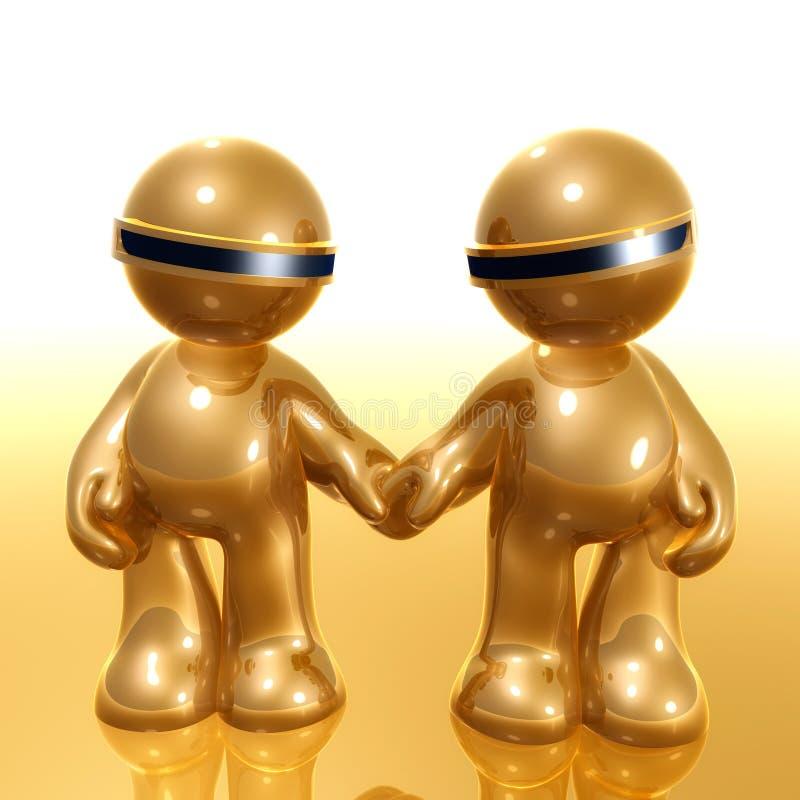 graphisme de couples du humanoid 3d illustration libre de droits