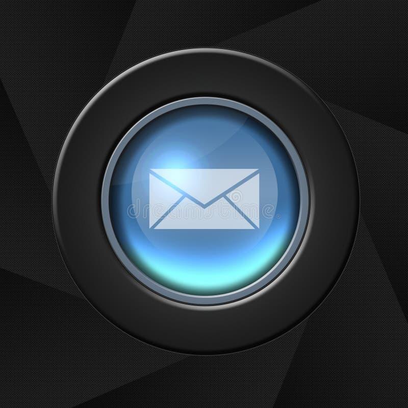 Graphisme de courrier illustration stock