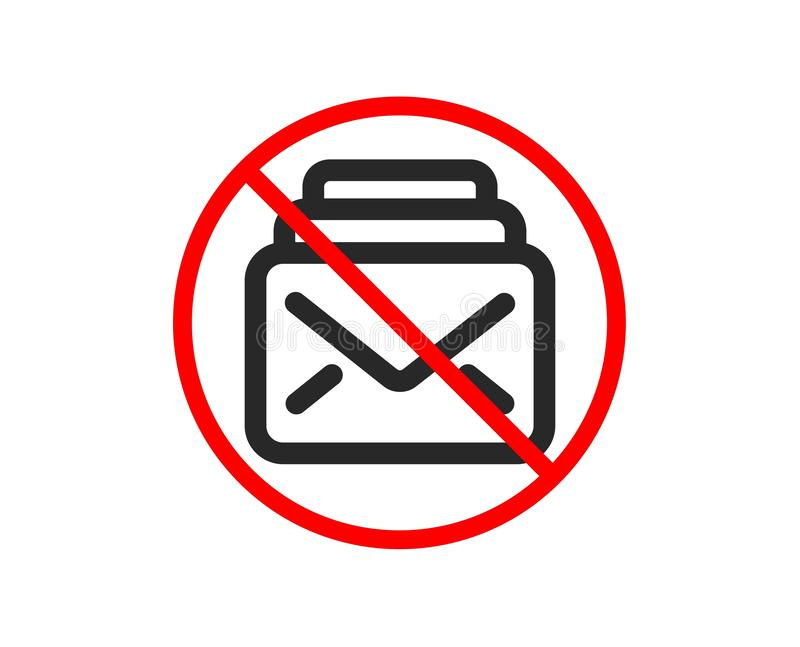 Graphisme de courrier Nouveau signe de correspondance de messages Vecteur illustration stock