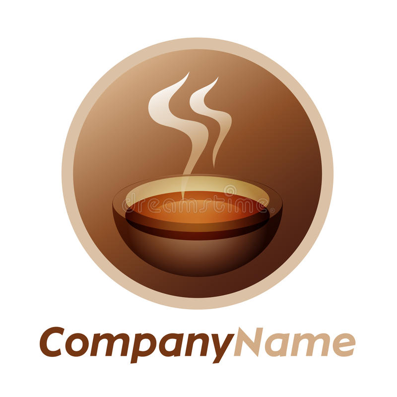 Graphisme de cuvette de thé et conception de logo illustration libre de droits
