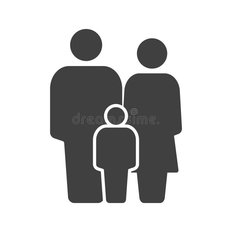 Graphisme de famille P?re, m?re et fils Vecteur sur un fond blanc illustration de vecteur