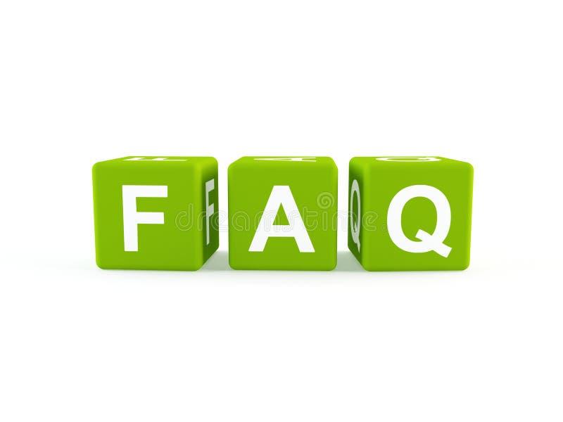 Graphisme de FAQ illustration libre de droits