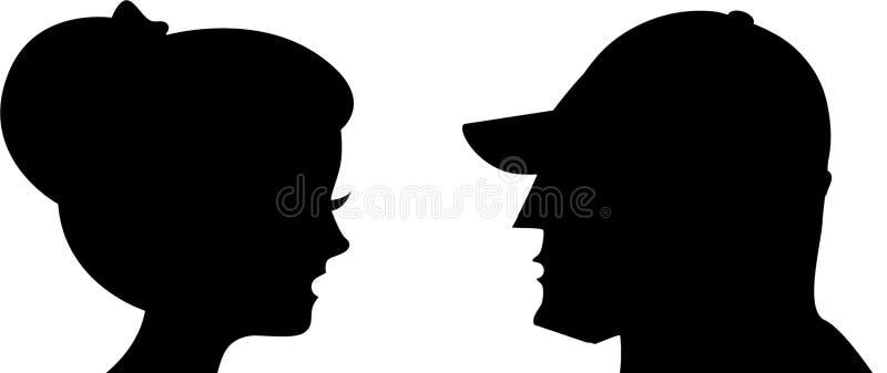 Graphisme de femme et d'homme illustration stock