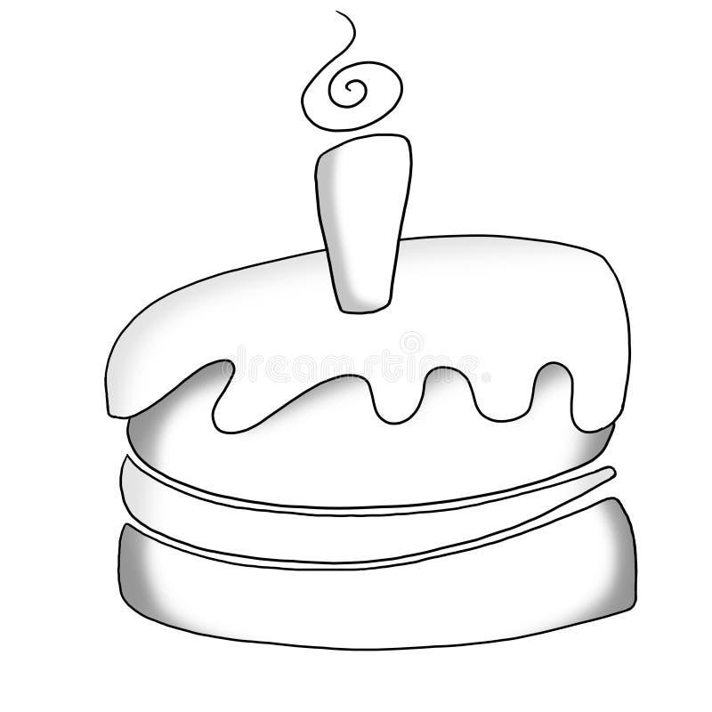 Graphisme de gâteau illustration de vecteur