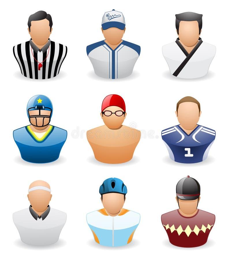 Graphisme de gens d'avatar : Sport de métier # 4 illustration stock