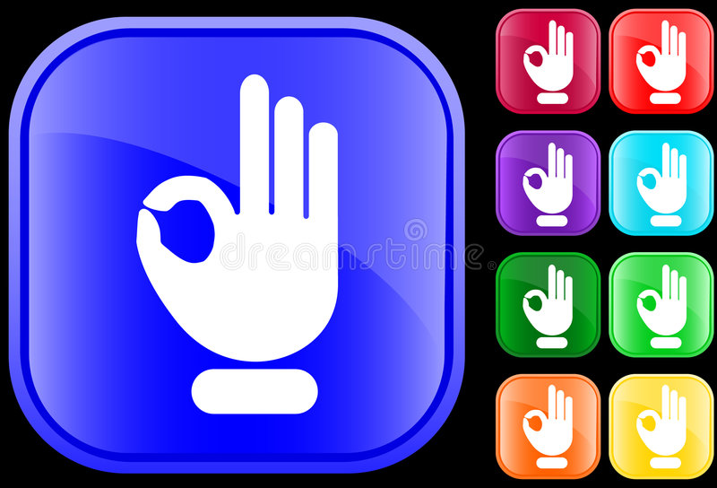 Graphisme de geste EN BON ÉTAT illustration de vecteur