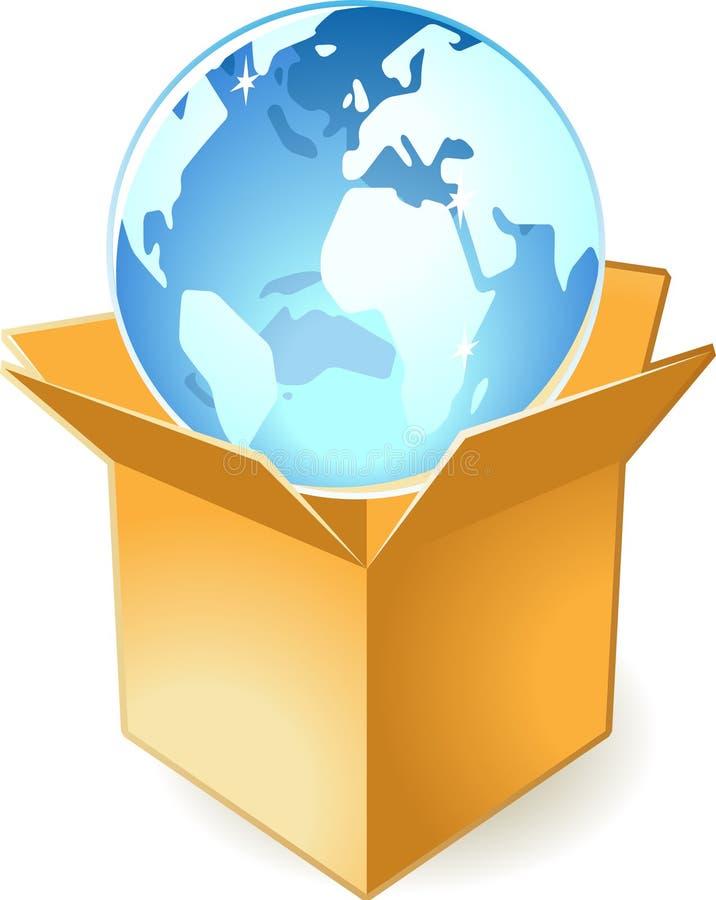 Graphisme de globe dans le cadre illustration stock