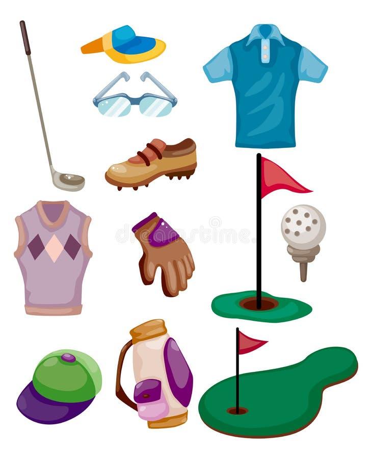 Graphisme de golf de dessin animé illustration de vecteur