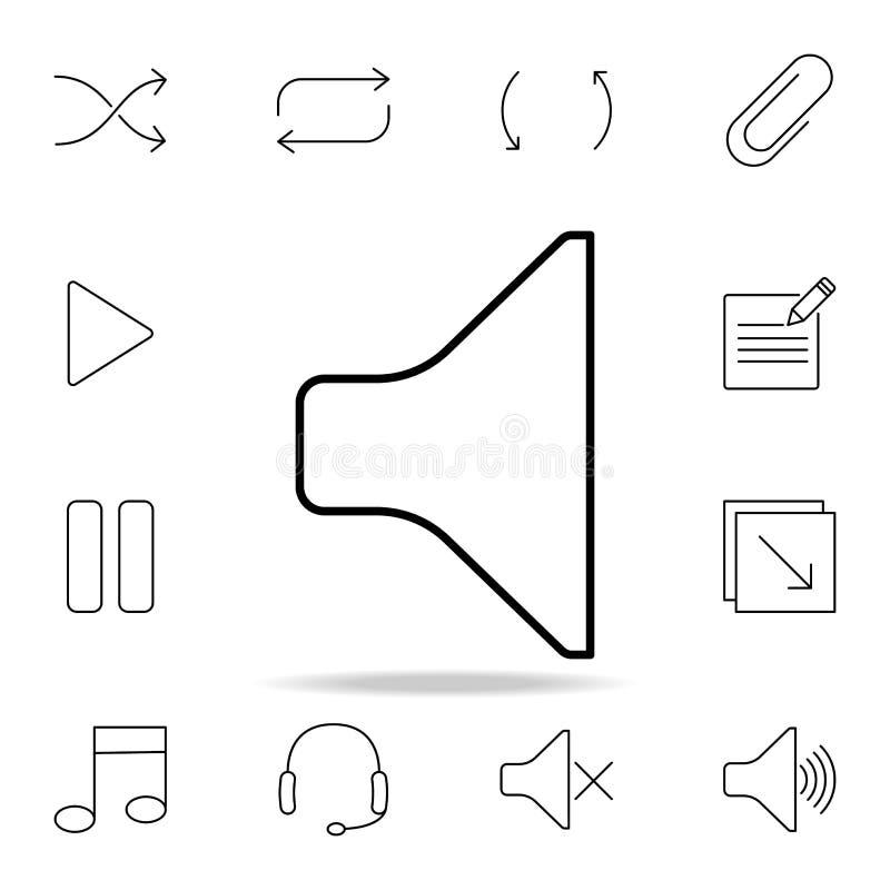 Graphisme de haut-parleur Ensemble détaillé d'icônes simples Conception graphique de la meilleure qualité Une des icônes de colle illustration stock
