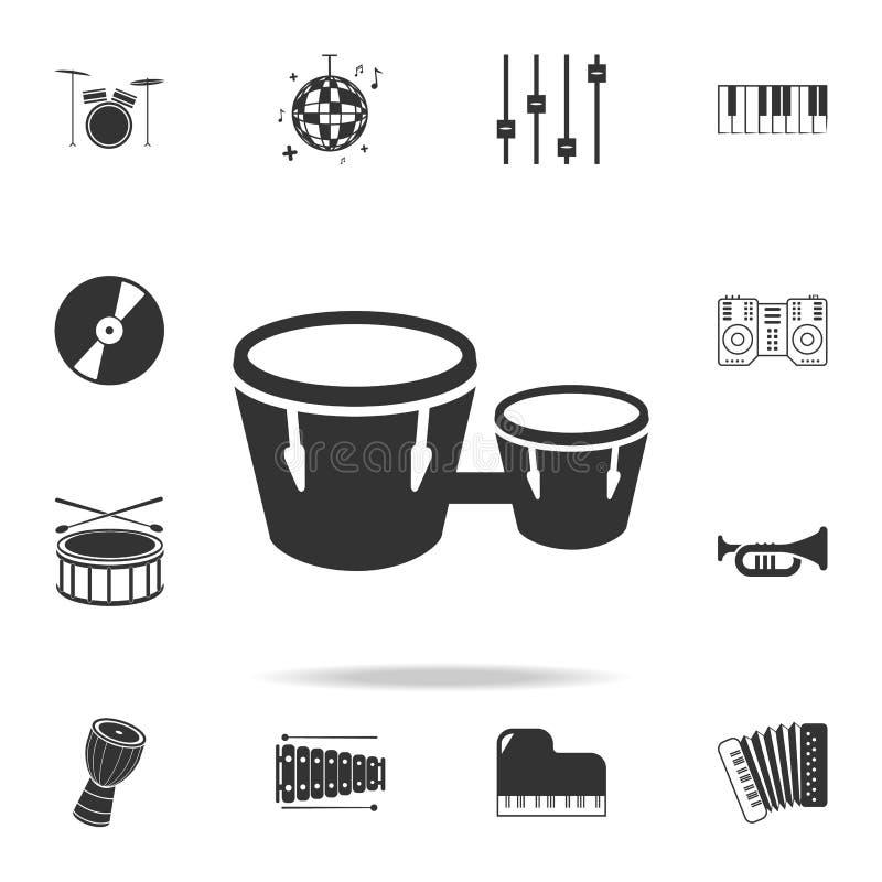Graphisme de haut-parleur Icônes détaillées d'ensemble des icônes d'élément d'instrument de musique Conception graphique de quali illustration de vecteur