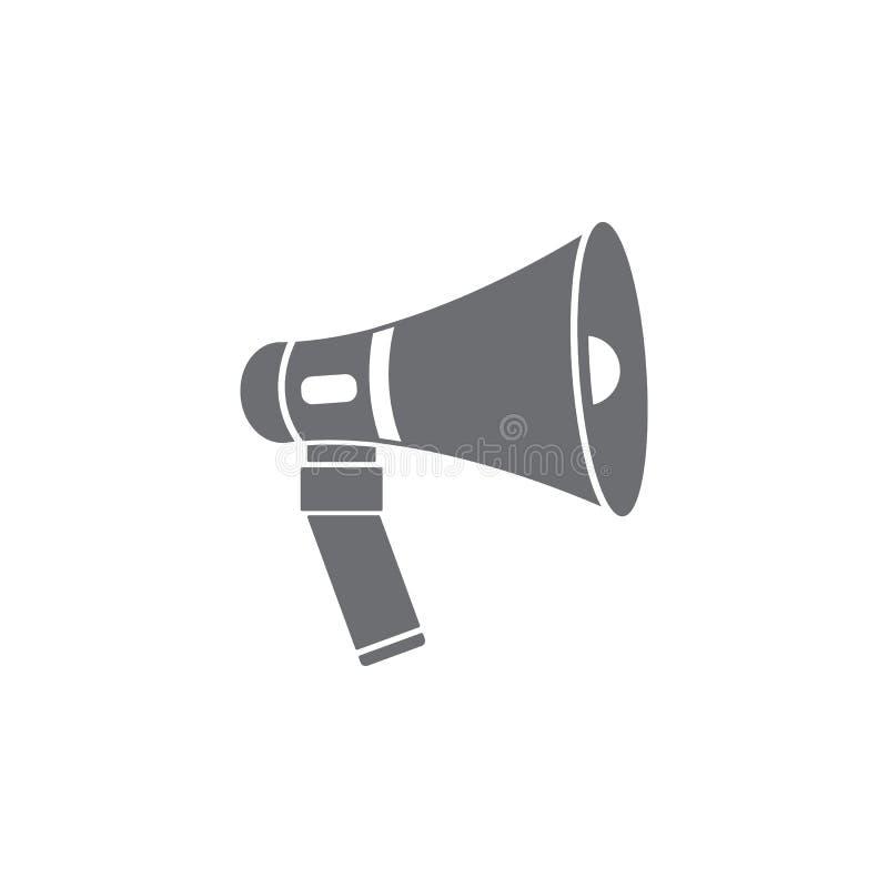 Graphisme de haut-parleur Illustration simple d'élément calibre de conception de symbole de haut-parleur Peut être employé pour l illustration de vecteur