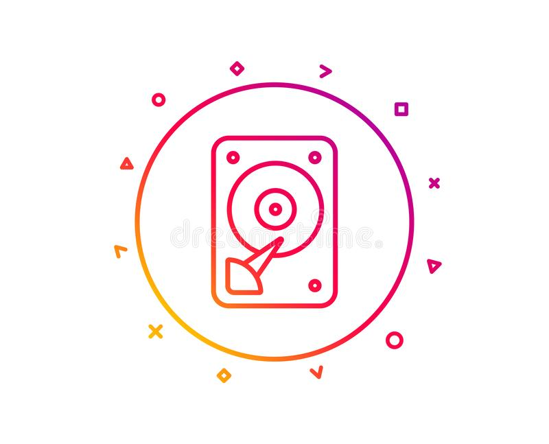 Graphisme de HDD Signe de stockage de disque dur Vecteur illustration libre de droits