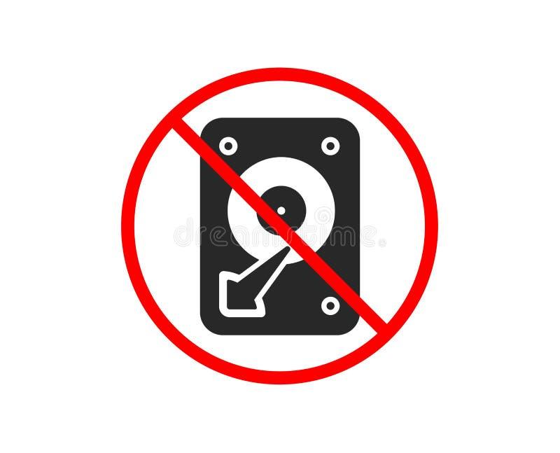 Graphisme de HDD Signe de stockage de disque dur Vecteur illustration de vecteur