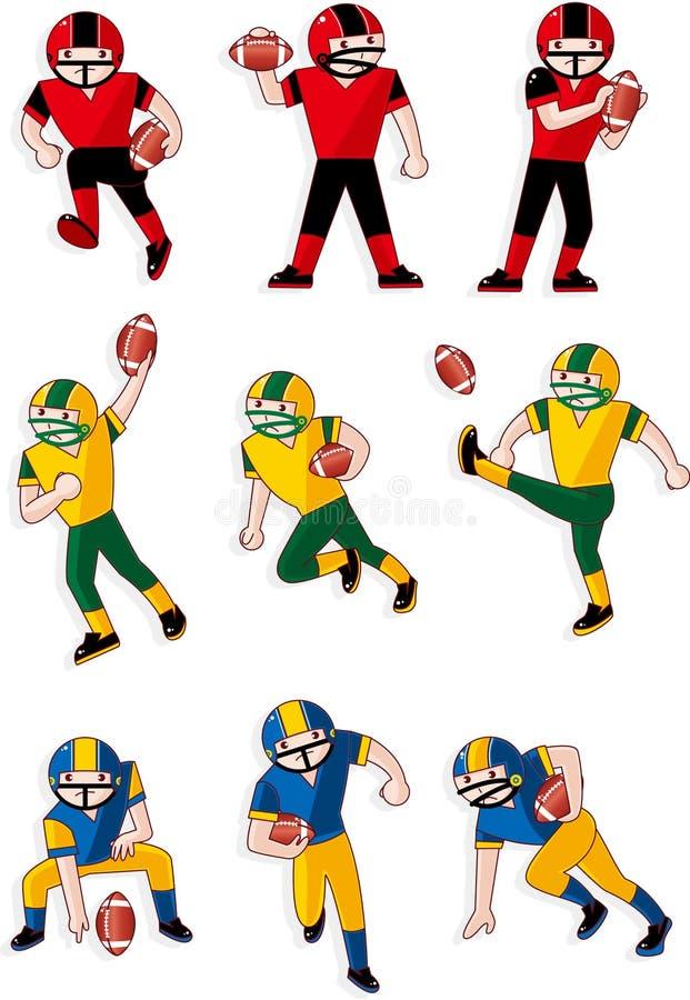 Graphisme de joueur de football de dessin animé illustration stock
