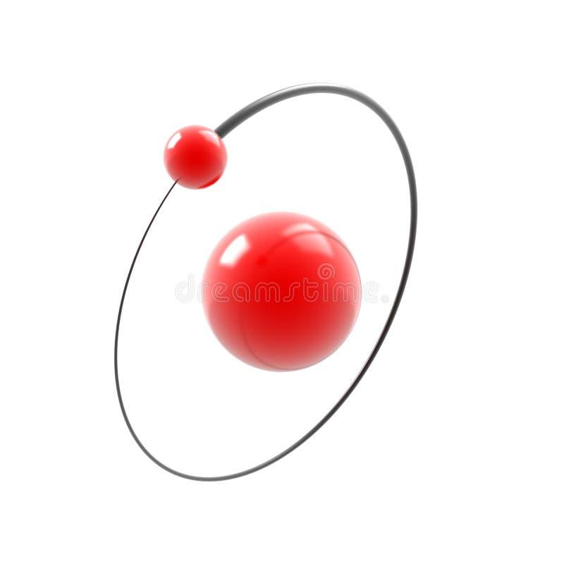 Graphisme de l'atome d'hydrogène 3d illustration stock
