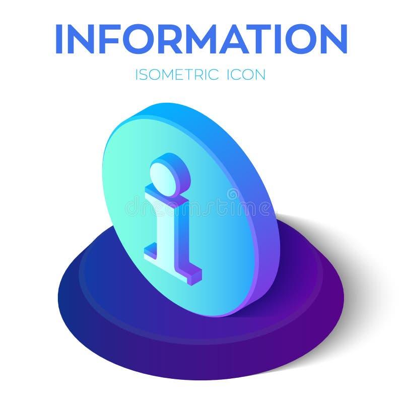 Graphisme de l'information signe isométrique de l'information 3D Créé pour le mobile, Web, décor, produits d'impression, applicat illustration de vecteur