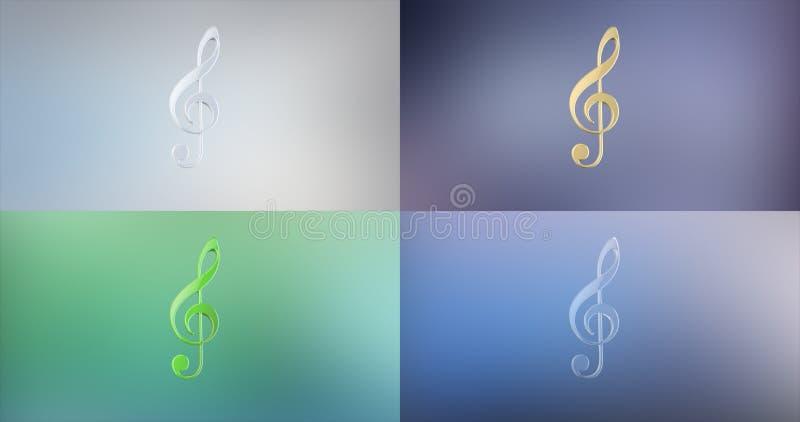 Graphisme de la musique 3d images libres de droits
