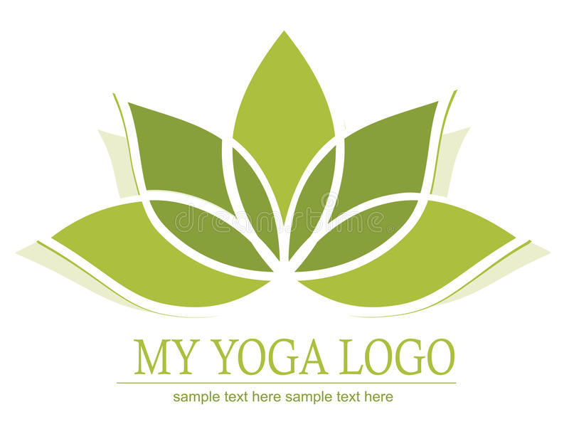 Graphisme de lotus de yoga illustration libre de droits