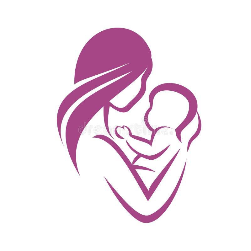 Graphisme de mère et de chéri illustration stock