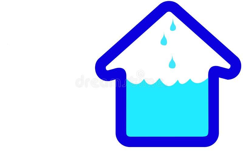 Graphisme de maison de Chambre d'inondation illustration de vecteur