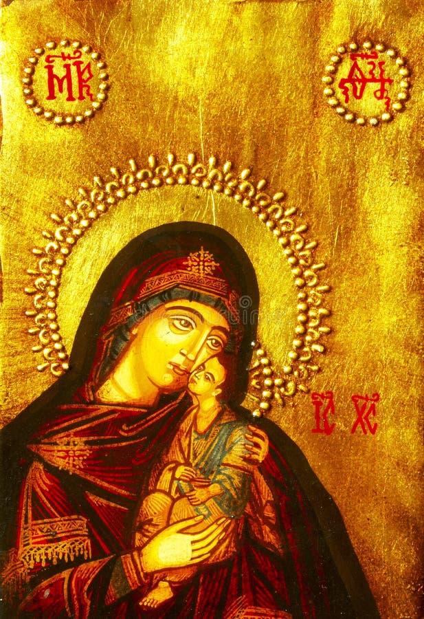 Graphisme de Mary et de chéri Jésus photos stock