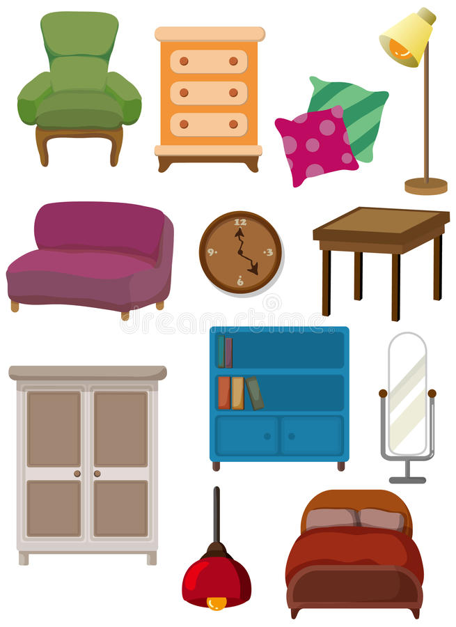graphisme de meubles de dessin anim illustration de vecteur illustration du caract re. Black Bedroom Furniture Sets. Home Design Ideas