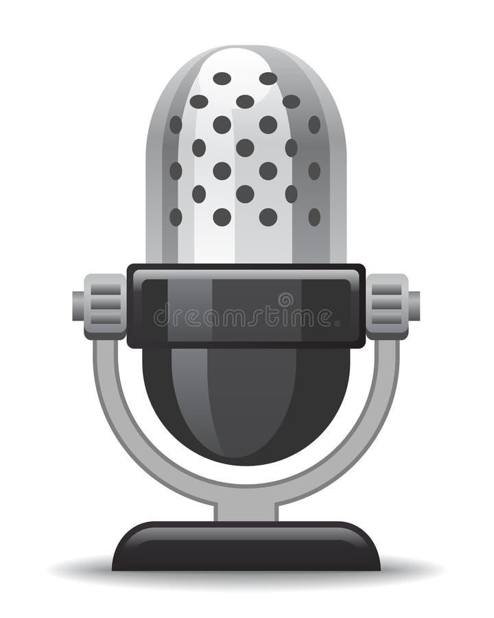 Graphisme de microphone illustration de vecteur