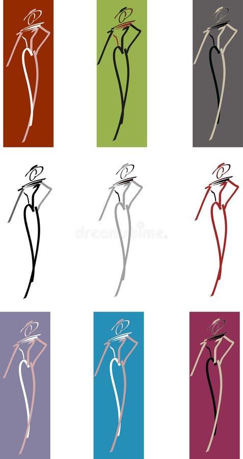Graphisme de modèle de mode illustration libre de droits