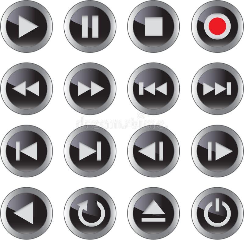 Graphisme de multimédia/positionnement de bouton illustration libre de droits