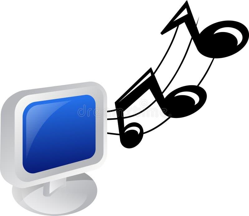 Graphisme de musique illustration stock