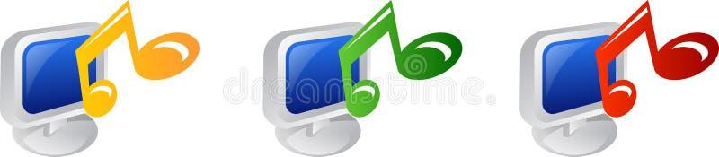 Graphisme de musique illustration libre de droits