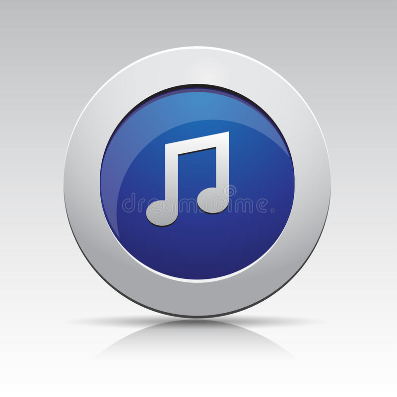 Graphisme de musique de gris bleu illustration de vecteur