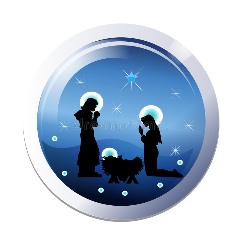 Graphisme de nativité de Noël illustration stock