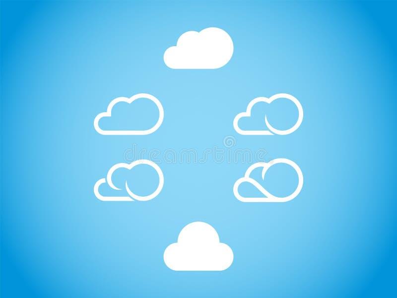 Graphisme de nuage photos libres de droits