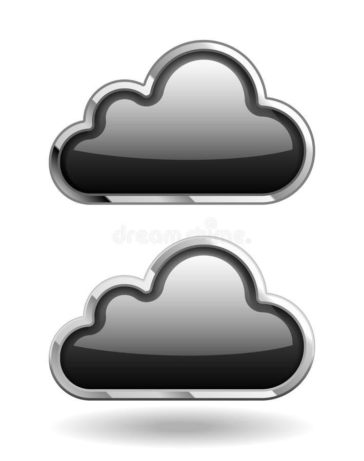 Graphisme de nuage noir illustration stock