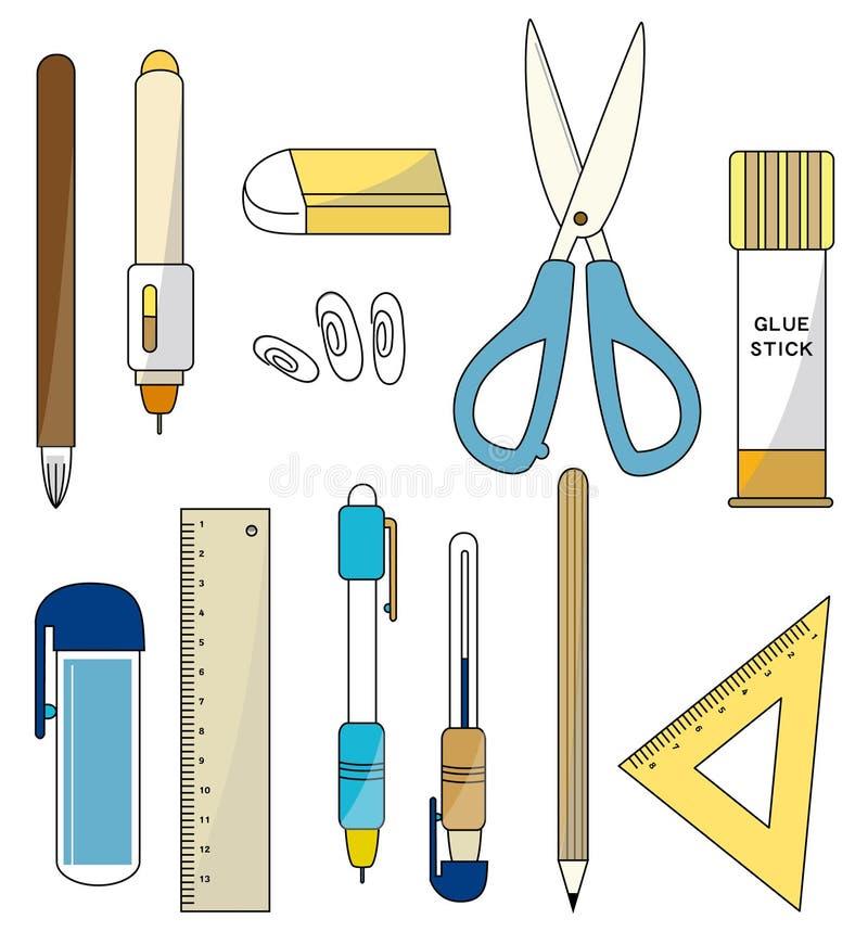 Graphisme de papeterie de dessin animé illustration stock