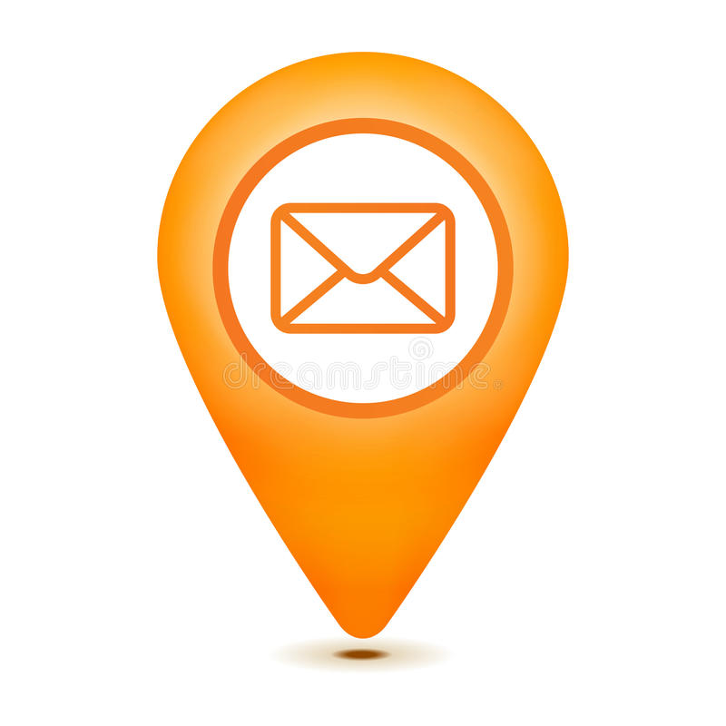 Graphisme de pointeur d'email illustration libre de droits
