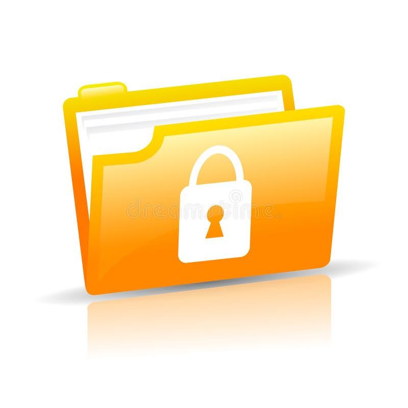 Graphisme de protection des données illustration libre de droits