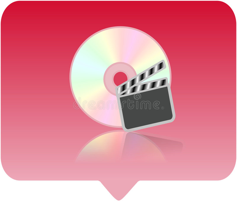 Graphisme de reproducteur multimédia illustration libre de droits