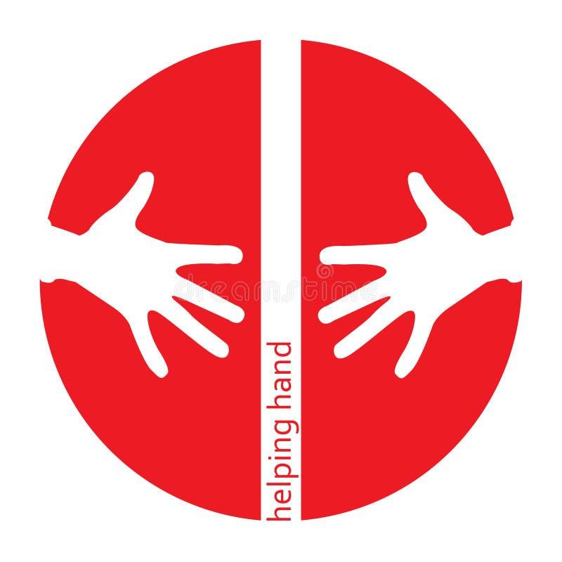 Graphisme de rouge de coups de main illustration libre de droits