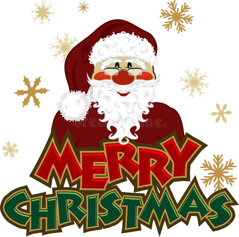 Graphisme de Santa illustration de vecteur