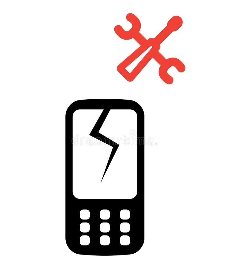 Graphisme de service téléphonique illustration de vecteur