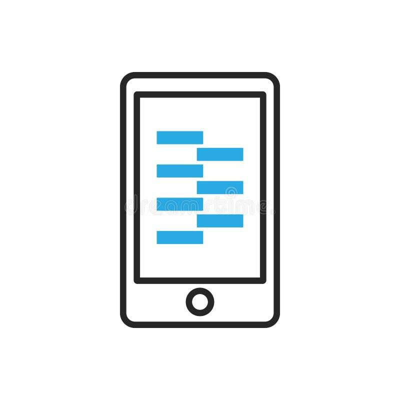 Graphisme de Smartphone Données mobiles de compresse illustration de vecteur