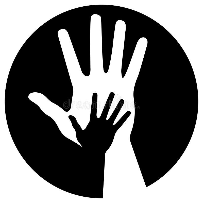 Graphisme de soin de mains illustration libre de droits
