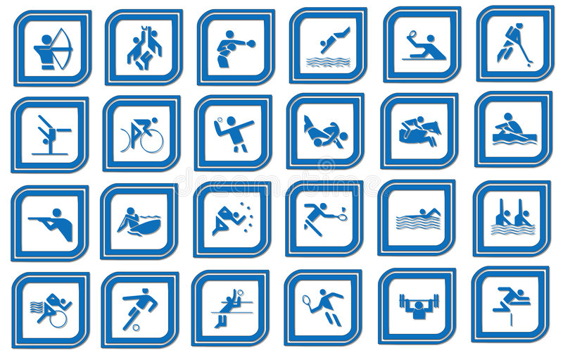 Graphisme de sport illustration libre de droits