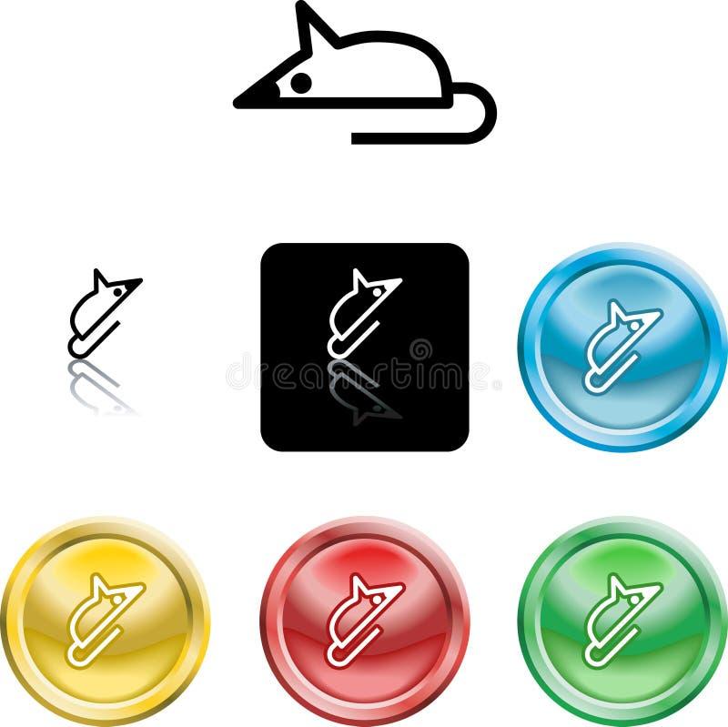 Graphisme de symbole de souris illustration stock
