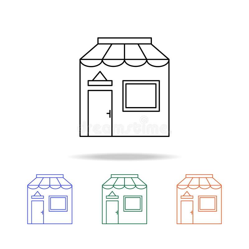 Graphisme de système Éléments des immobiliers dans les icônes colorées multi Icône de la meilleure qualité de conception graphiqu illustration de vecteur