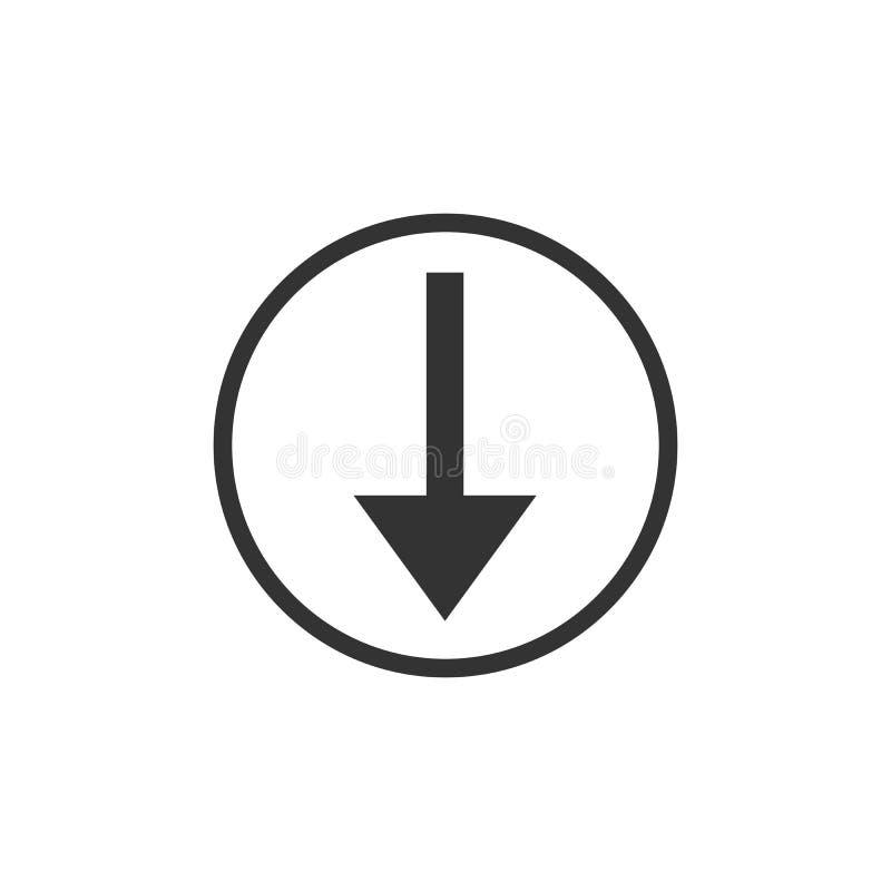Graphisme de téléchargement Téléchargement, signe de charge, symbole Illustration de vecteur Conception plate illustration de vecteur