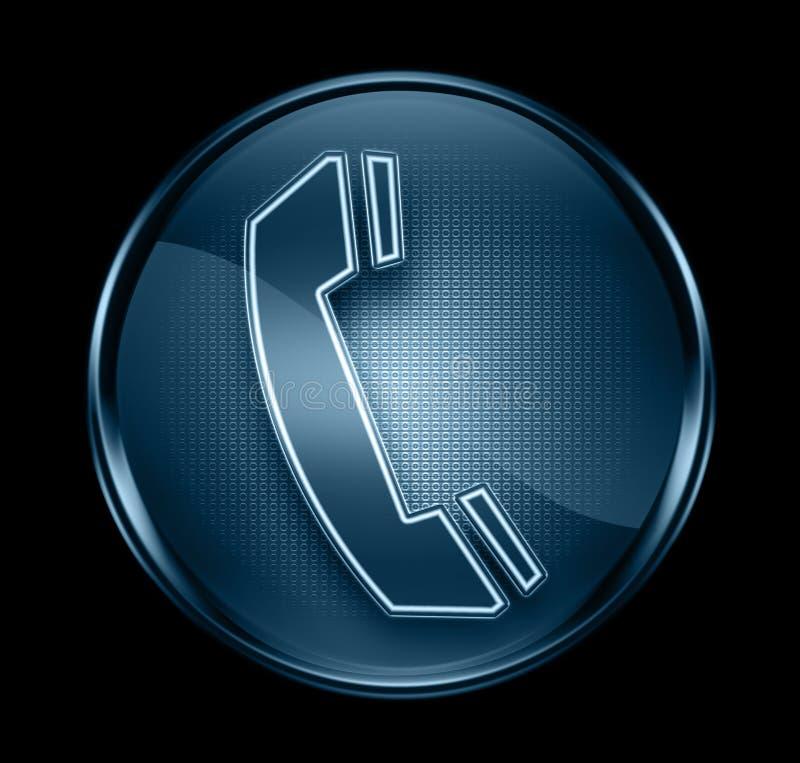 Graphisme de téléphone bleu-foncé. illustration stock
