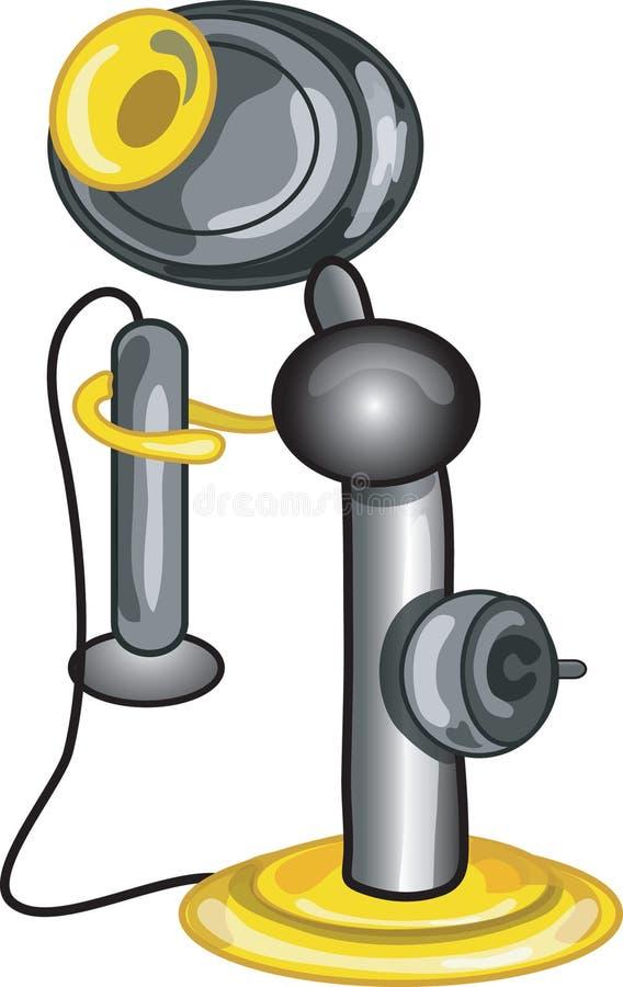 Graphisme de téléphone d'antiquité illustration de vecteur